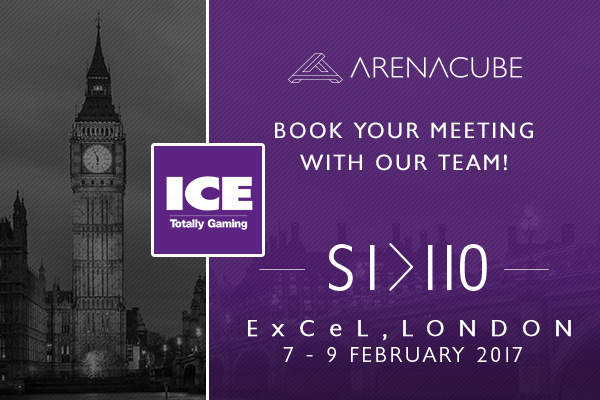 ICE Totally Gaming 2017 is only a few weeks away! Book your meeting with ArenaCube